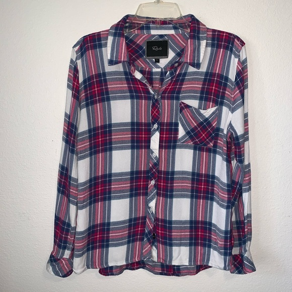 4e56bebdc20c Rails Tops | Hunter Blue Fuchsia Flannel Plaid Shirt Lrg | Poshmark